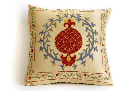 Pure Silk Root Suzani Pillow