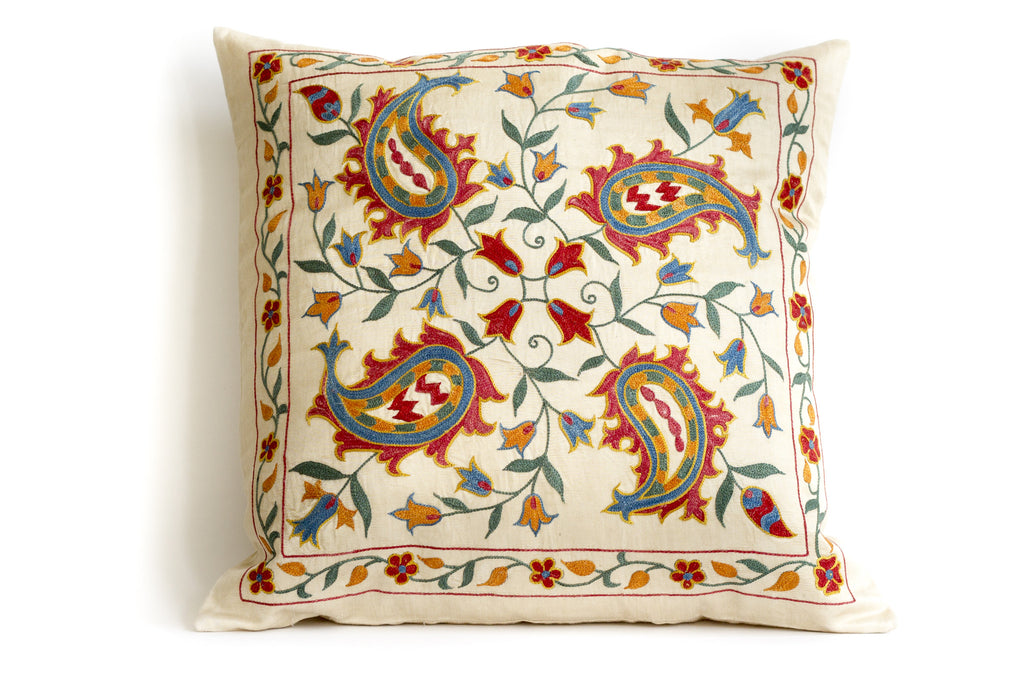 Pure Silk Garden Suzani Pillow