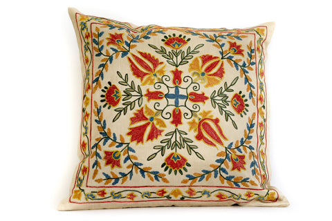 Pure Silk Royal Suzani Pillow