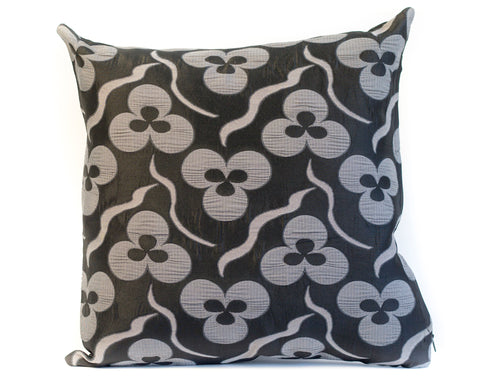 Pure Silk Trèfle Jacquard Pillow