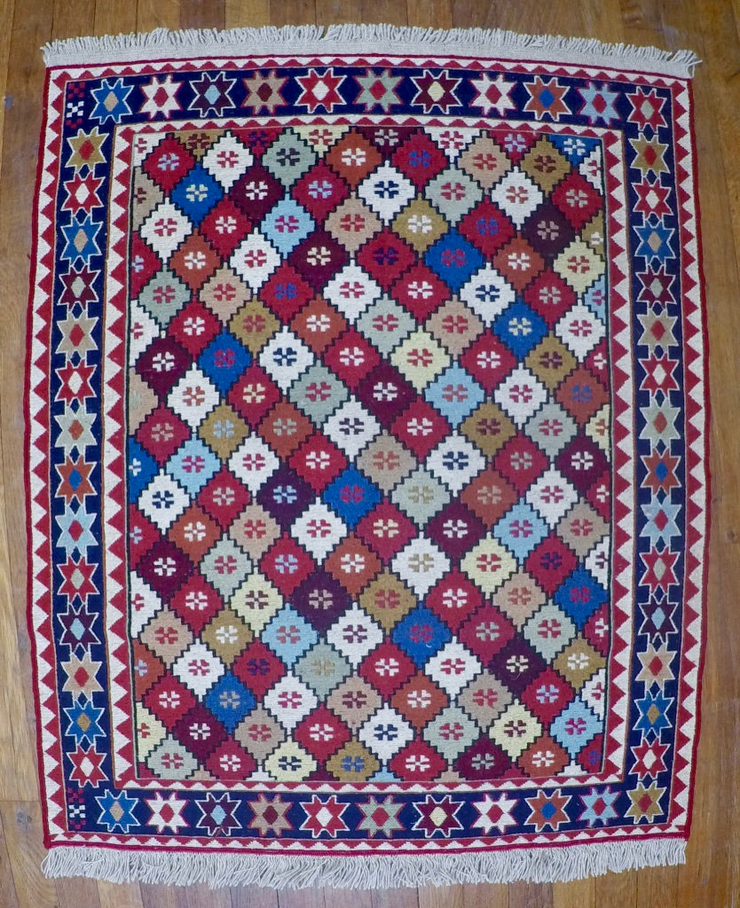 "New Wool on Cotton Rahra Soumak 2'8"" X 3'4"