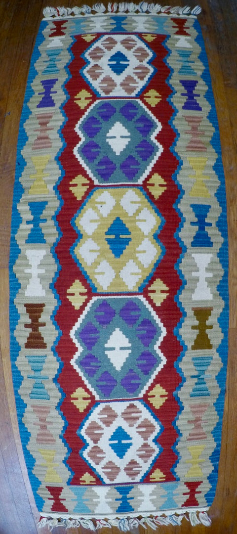 "New Wool on Wool Kilim 2'1"" X 6'1"""