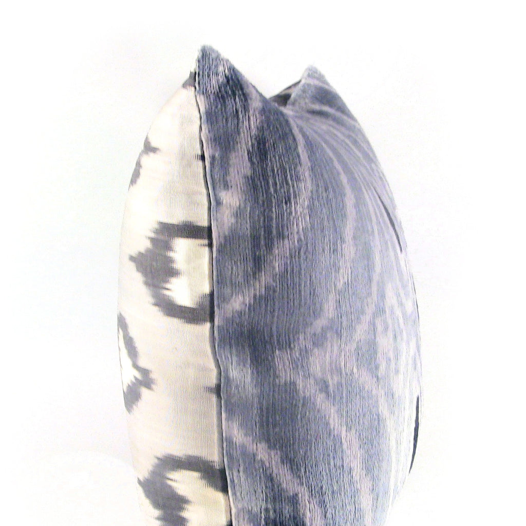 Yurek Ikat & Velvet Pillow