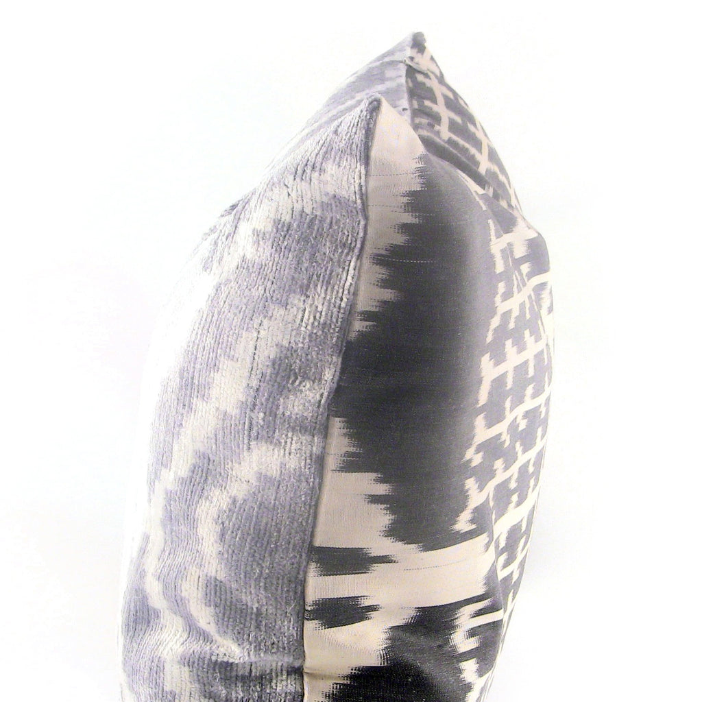 Eros Ikat & Velvet Pillow