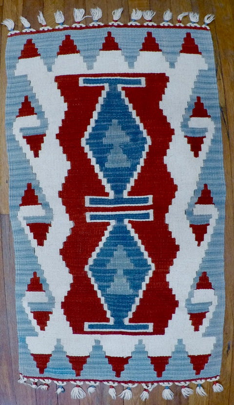 "New Wool on Wool Kilim 1'9"" X 3'1"""