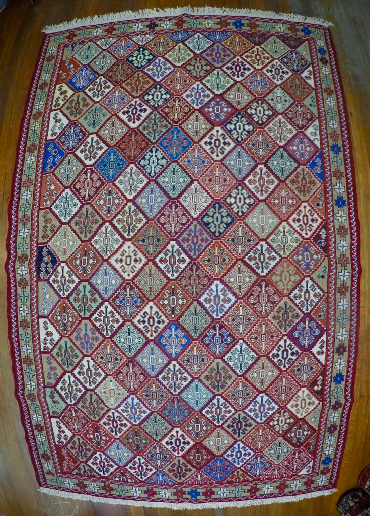 "New Wool on Cotton Rahra Soumak 4'2"" X 6'7"""