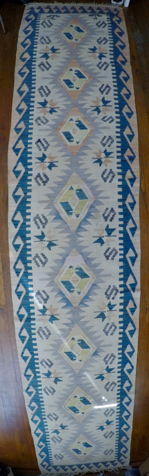 "New Wool on Wool Kilim 2'2"" X 10'9"""