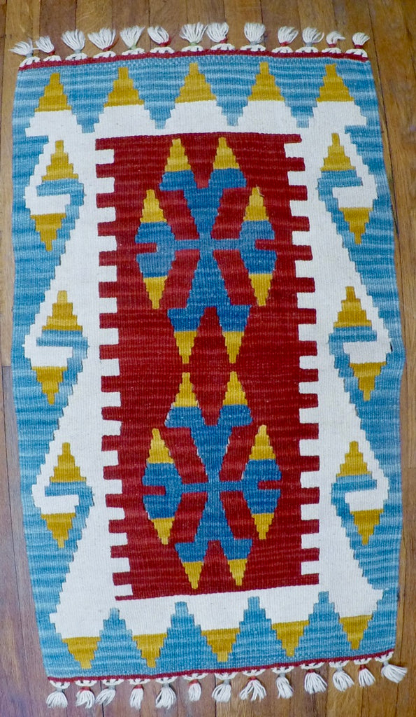 "New Wool on Wool Kilim 1'10"" X 3'1"""