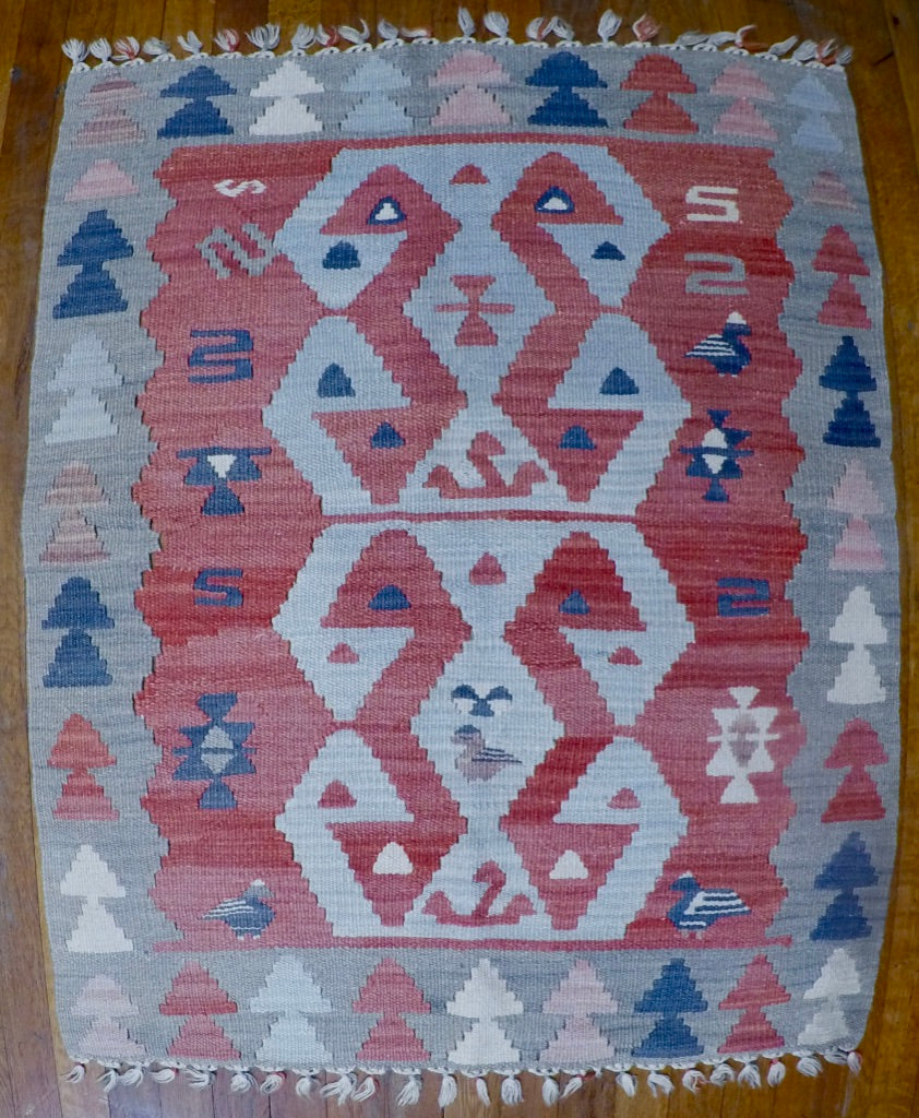 "New Wool on Wool Kilim 2'10"" X 3'4"""