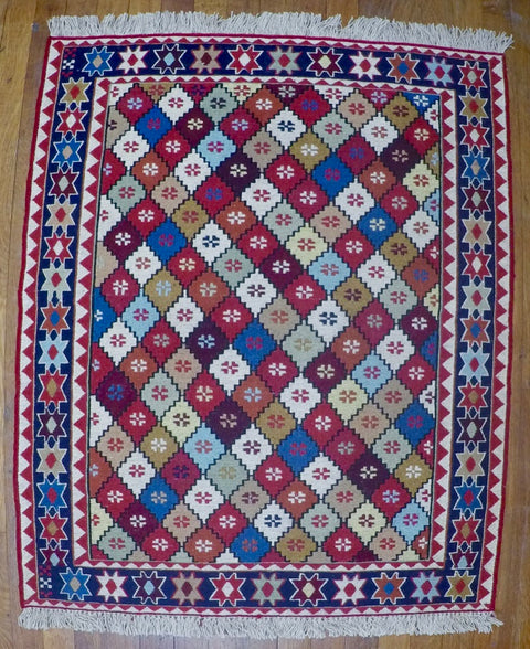 "New Wool on Cotton Rahra Soumak 2'8"" X 3'4"""