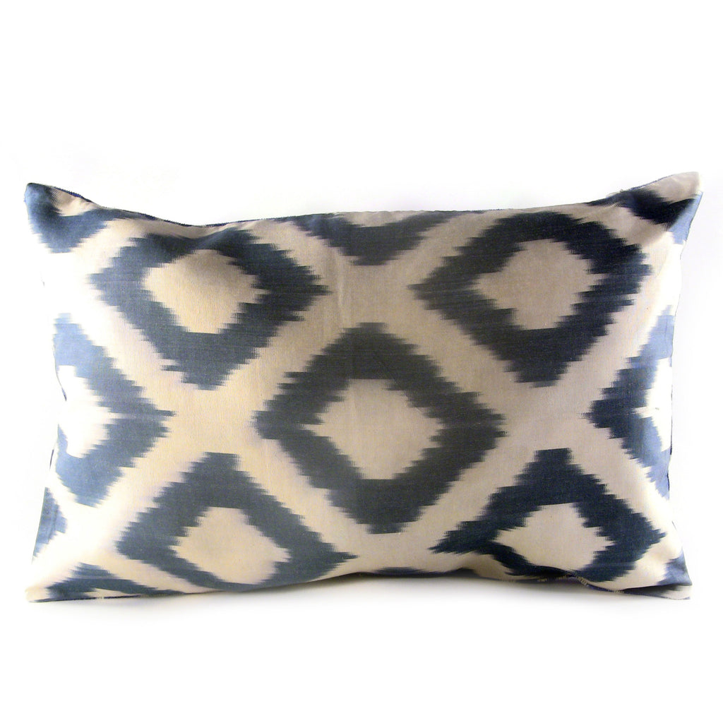 Elmas Ikat & Velvet Pillow