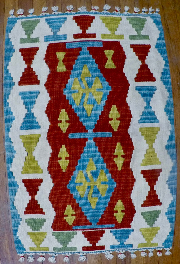 New Wool on Wool Kilim 2' X 3'