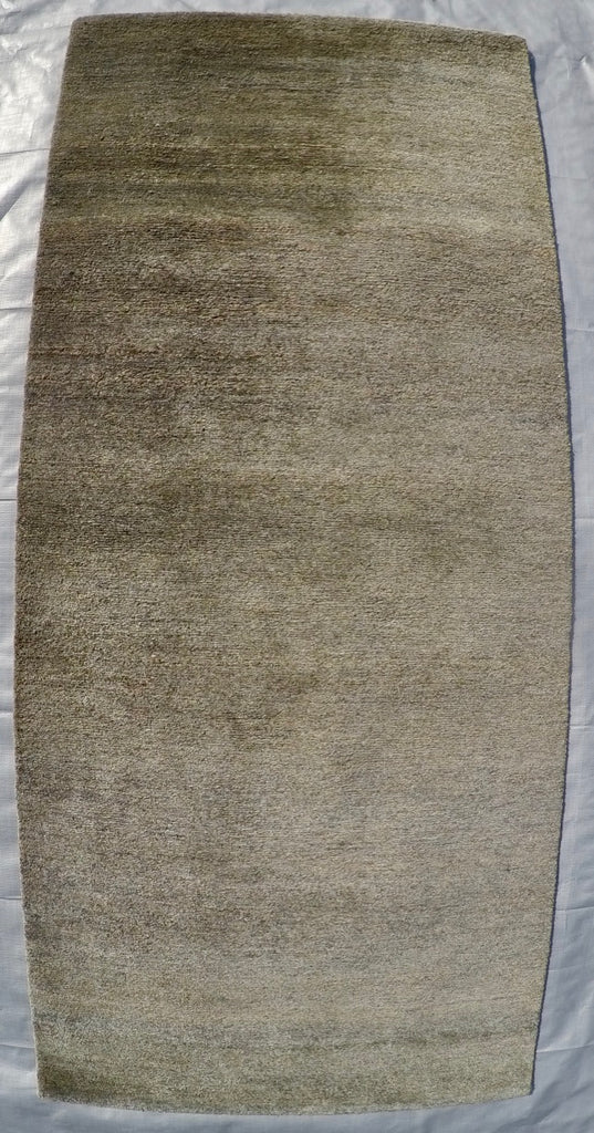 "New Hemp and Silk on Cotton Hand-knotted Rug 2'3"" X 5'1"""