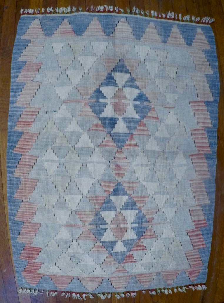 "New Wool on Wool Kilim 2'7"" X 3'8"""