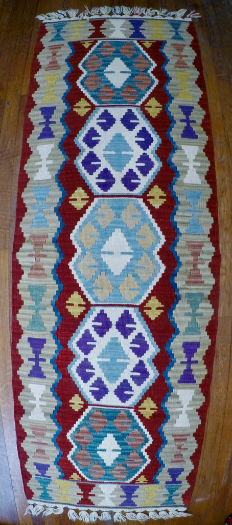 "New Wool on Wool Kilim 2'1"" X 6'2"""