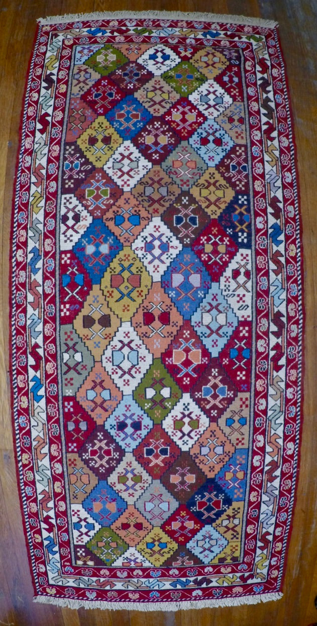 "New Wool on Cotton Rahra Soumak 2'8"" X 6'5"""