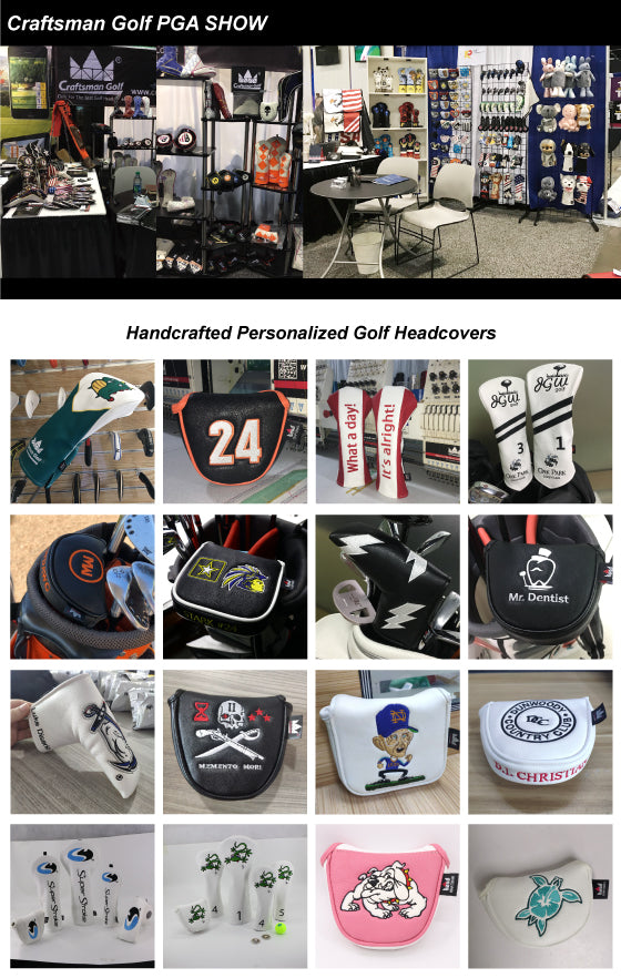 Custom Handcrafted Finished Golf Headcovers and Accessories