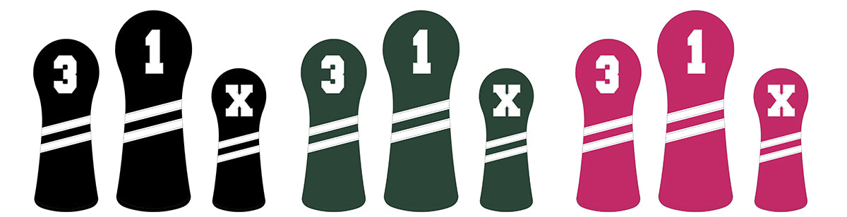 Craftsman Golf Personalized Optional Leather Wood Head Covers With Your Name