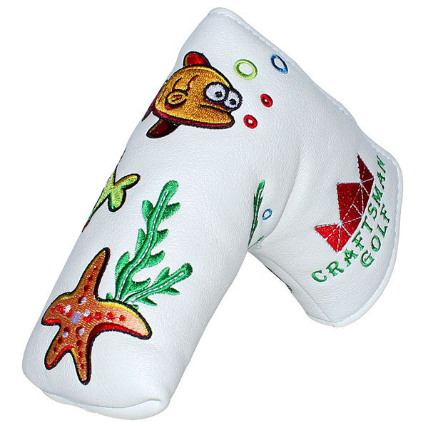 Fish Crab Starfish Seaweed Blade Putter Head Cover - CraftsmanGolf