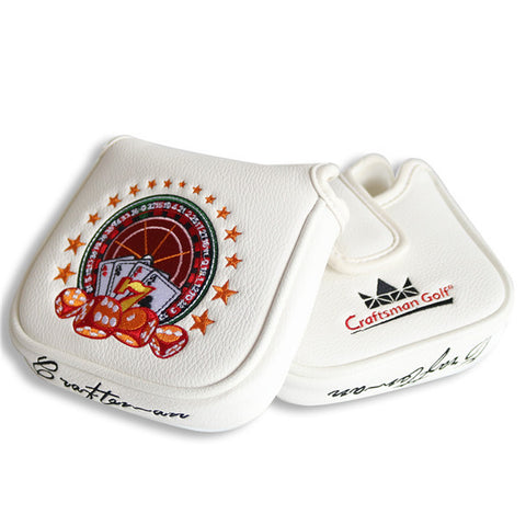Russian Roulette Game Square Mallet Putter Head Cover