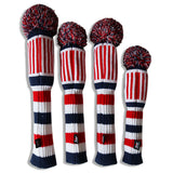 USA Flag Knitted Pom Pom Golf Head Cover - CraftsmanGolf