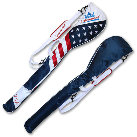 USA Flag Star and Strip Golf Sunday Bag - CraftsmanGolf