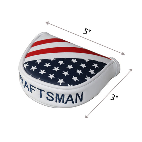 USA Flag Stars & Stripes Mid-Mallet Putter Head Cover - CraftsmanGolf