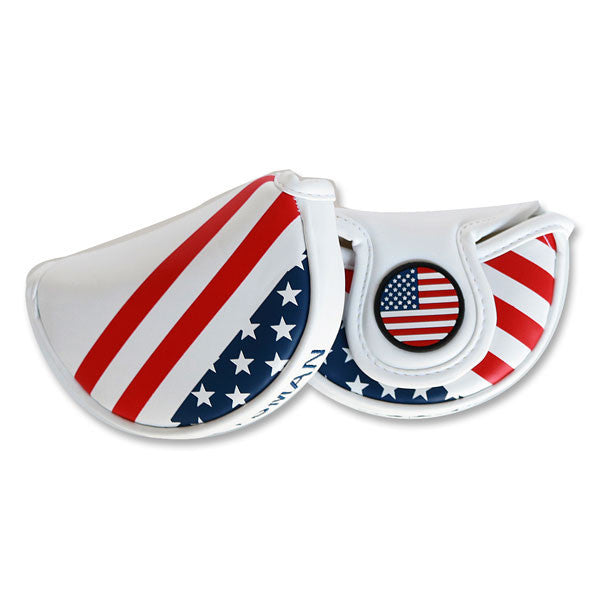 USA Stars & Stripes Flag Mid-Mallet Putter Head Cover