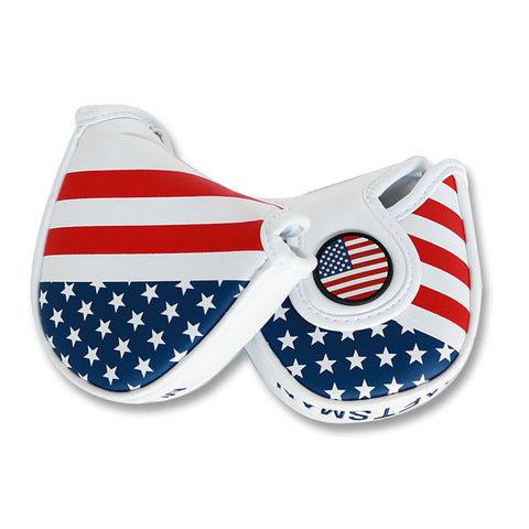 USA Stars & Stripes Flag Mallet Putter Head Cover