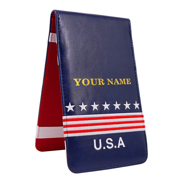 Custom Foil Embossing USA Scorecard&Yardage Book Holder - CraftsmanGolf