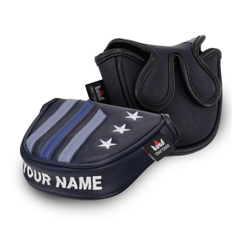 Custom Your Name Stars&Stripes Mallet Putter Headcover