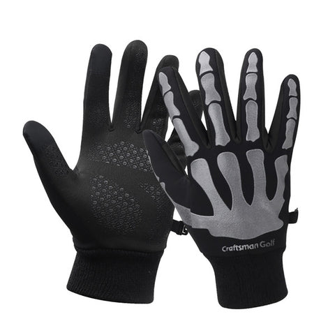 One Pair Keep Warm Cool Bone Winter Soft Touch Screen Golf Gloves