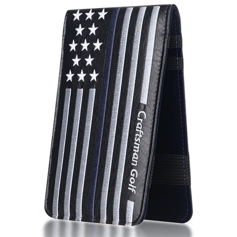 Stars and Stripes Scorecard and Yardage Book Holder - CraftsmanGolf
