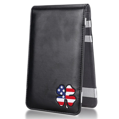 USA Clover Leather Scorecard & Yardage Book Holder
