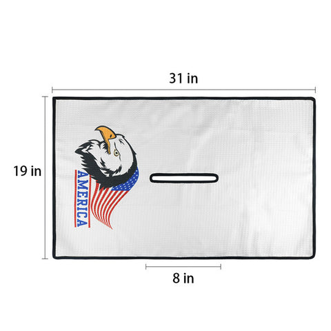 America Eagle Waffle  Golf Towel - CraftsmanGolf
