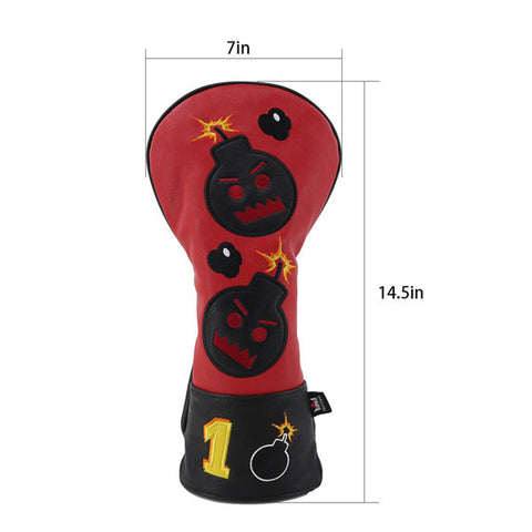 Angry Bombs Golf Head Covers