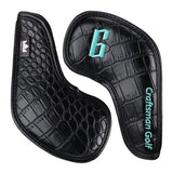 Black Crocodile Pattern Leather Iron Head Cover Set