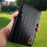 Crocodile Pattern Leather Scorecard & Yardage Book Holder - CraftsmanGolf