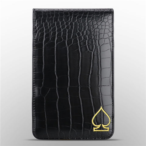 Crocodile Pattern Leather Scorecard & Yardage Book Holder