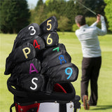 Both Sides Colorful Number Elastic Iron Headcovers Set