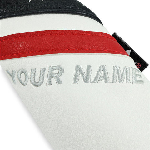 Custom Wood Headcovers(Stars with Black Red White) - CraftsmanGolf