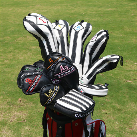 Colorful Embroidery Number Iron Head Cover Set - CraftsmanGolf