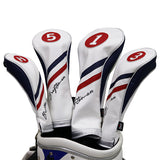 White Blue Red Wood Head Cover
