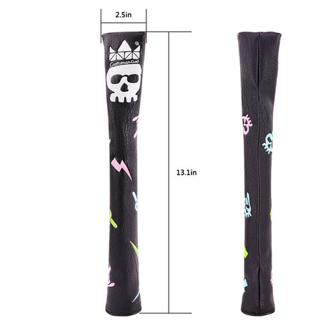 Hip-hop Skull Leather Alignment Stick Cover - CraftsmanGolf