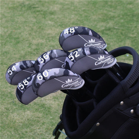 Camouflage Neoprene Golf Wedges Head Cover Set