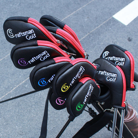 Multi Color Zipper Iron Head Cover Set