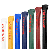 Personalized Crocodile Pattern Leather Alignment Stick Cover - CraftsmanGolf