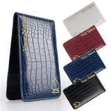 Personalized Crocodile Pattern Leather Scorecard & Yardage Book Holder - CraftsmanGolf