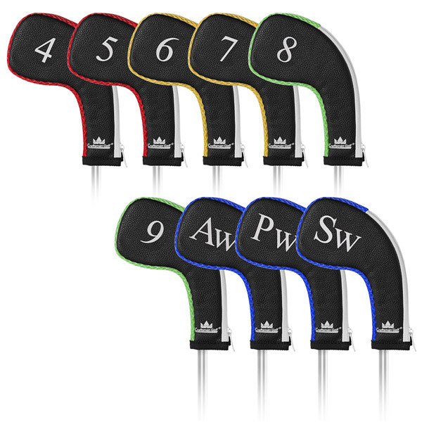 Printing Multi Colors Zipper Iron Headcovers Set - CraftsmanGolf