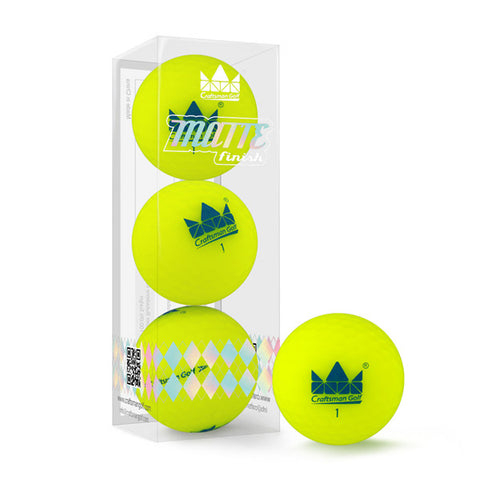 Matte Finished Colored 2 Piece Soft Golf Balls - CraftsmanGolf